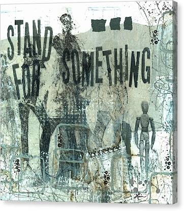Black People Canvas Print - Stand For Something  by Laura  Lein-Svencner
