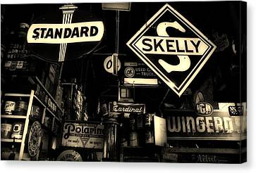 Standard And Skelly Sepia Canvas Print by Elizabeth Sullivan