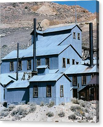 Standard Mill At Bodie Canvas Print by Barbara Snyder