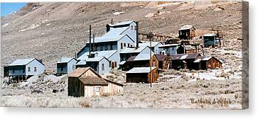 Standard Mill At Bodie Panorama Canvas Print by Barbara Snyder
