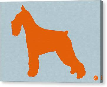 Standard Schnauzer Canvas Print - Standard Schnauzer Orange by Naxart Studio