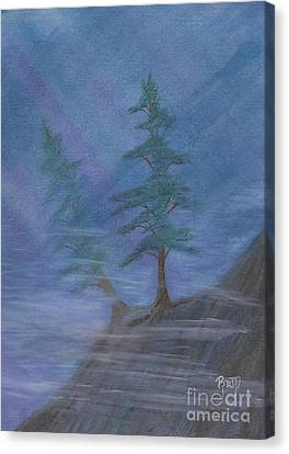 Standing Alone Canvas Print by Robert Meszaros