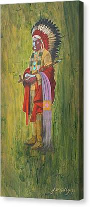 Standing Chief Red Cloud Canvas Print by J W Kelly
