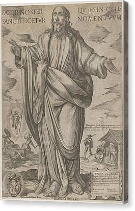 Standing Christ, Blessing From Christ Canvas Print by Antonio Tempesta