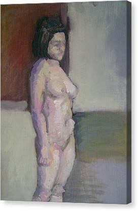 Standing Figure Canvas Print by Cynthia Harvey