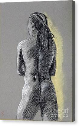 Standing Male Back Canvas Print