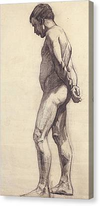 Standing Male Nude Canvas Print