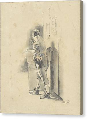 Loon Canvas Print - Standing Man, Leaning, Pieter Van Loon by Quint Lox