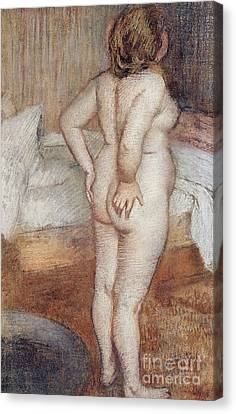 Standing Nude Canvas Print