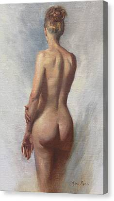 Standing Nude I Canvas Print by Anna Rose Bain