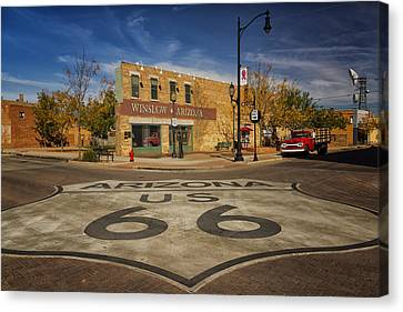 Standing On The Corner In Winslow Arizona Dsc08854 Canvas Print