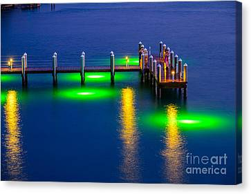 Standing On The Dock Of The Bay Canvas Print