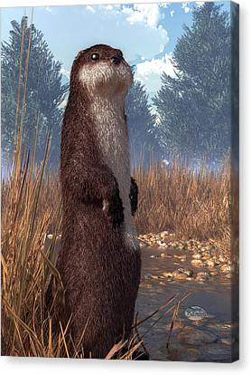 Standing Otter Canvas Print