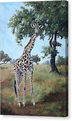 Canvas Print featuring the painting Standing Tall by Brenda Thour