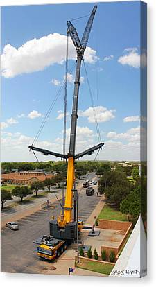 Construction Canvas Print - Standing Tall by Chris Martin