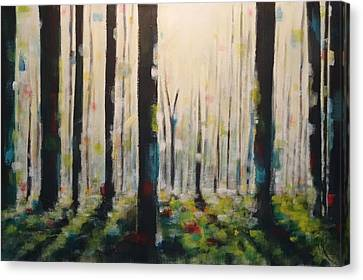 Into The Woods Canvas Print by Tia Marie McDermid