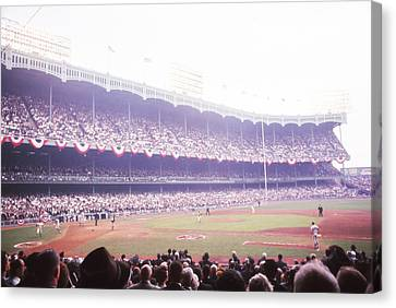 Stands View Of Yankee Stadium Canvas Print by Retro Images Archive