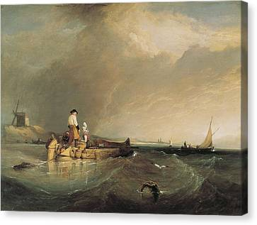 Stanfield, Clarkson 1793-1867. On Canvas Print by Everett