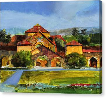 Stanford Chapel Canvas Print by Stan Fellows