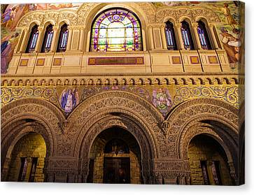 Stanford University Memorial Church Close Up Canvas Print by Scott McGuire