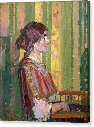 Stanislawa De Karlowska Mrs. Robert Bevan Stanislawa De Canvas Print by Litz Collection