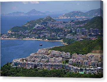 Canvas Print featuring the photograph Stanley Bay  by Sarah Mullin