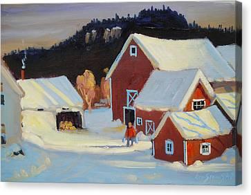 Stanley Kay Farm Canvas Print by Len Stomski