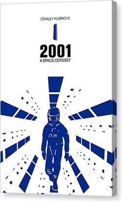 Stanley Kubrick 2001 A Space Odyssey Movie Poster Canvas Print by Kevin Trow