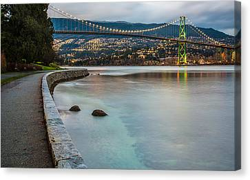 Stanley Park Seawall View Canvas Print