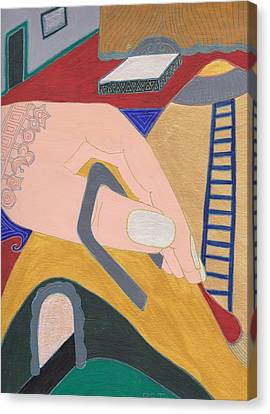 Stapled Canvas Print by Barbara St Jean