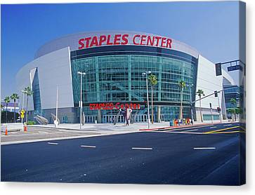 Staples Center, Home To The Nbas Los Canvas Print