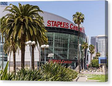 Staples Center In Los Angeles California Canvas Print by Paul Velgos