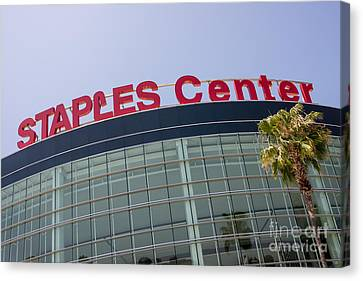 Staples Center Sign In Los Angeles California Canvas Print