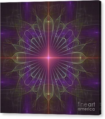 Canvas Print featuring the digital art Star 1 by Ursula Freer