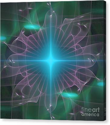 Canvas Print featuring the digital art Star 2 by Ursula Freer