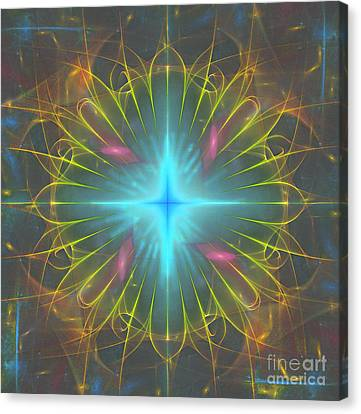 Canvas Print featuring the digital art Star 4 by Ursula Freer
