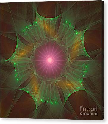 Canvas Print featuring the digital art Star 6 by Ursula Freer