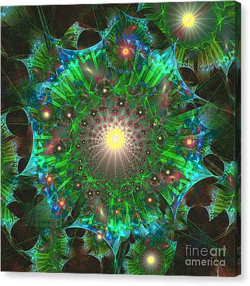 Canvas Print featuring the digital art Star 9 by Ursula Freer