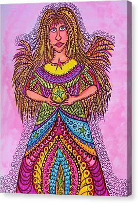 Star Angel Canvas Print by Gerri Rowan