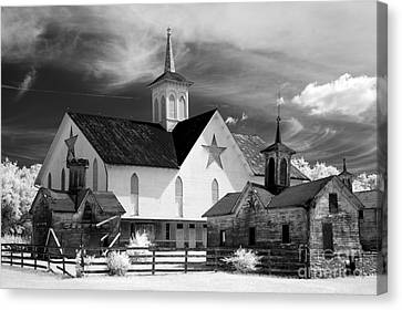 Star Barn Complex In Infrared Canvas Print