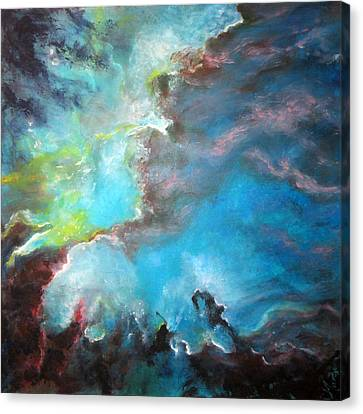 Star Cluster In Magellanic Cloud  After St Sc I Hubble Nasa Canvas Print by Margaret Niven