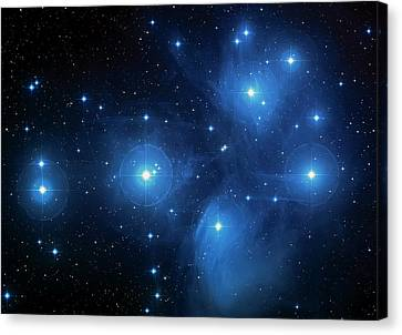 The Hubble Telescope Canvas Print - Star Cluster Pleiades Seven Sisters by Jennifer Rondinelli Reilly - Fine Art Photography