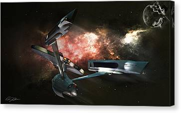 Star Date 6625.331 Canvas Print by Peter Chilelli
