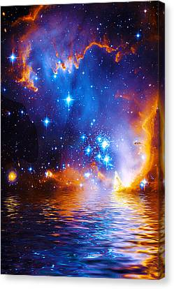Stars As Diamonds Canvas Print by Chuck Mountain