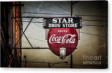 Star Drug Store 2 Canvas Print by Perry Webster