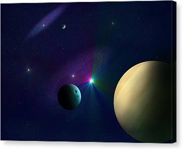 Star Dust Canvas Print by Ricky Haug