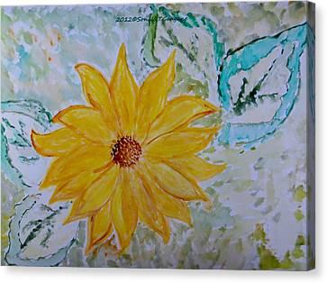 Star Flower Canvas Print by Sonali Gangane