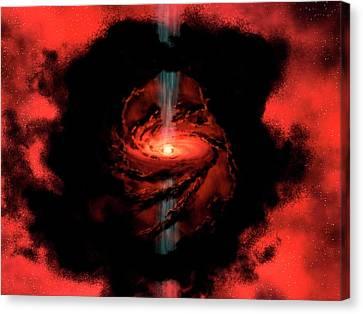 Star Formation Canvas Print by Nasa / Jpl-caltech / R. Hurt (ssc
