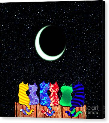 Star Gazers Canvas Print by Nick Gustafson