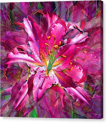 Star Gazing Stargazer Lily Canvas Print
